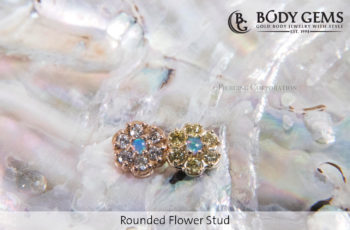 Piercingstudio Nijmegen_Rounded Flower Stud